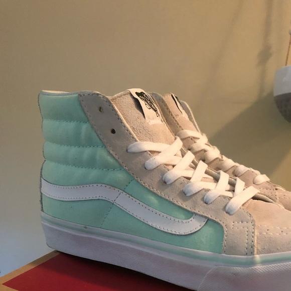"Vans Shoes - Vans sk8 hi ""white bay"" 870e906be"